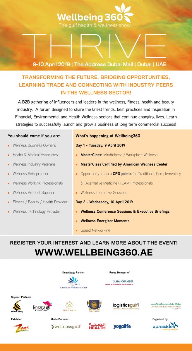 DBWC   Event-Thrive - Wellbeing360 (The gulf health